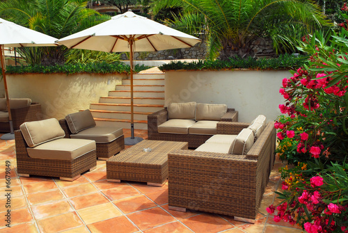 Patio of a villa - 6679849