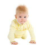 Boy at the age of 7 months poster