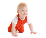 Little boy at the age of 7 months poster