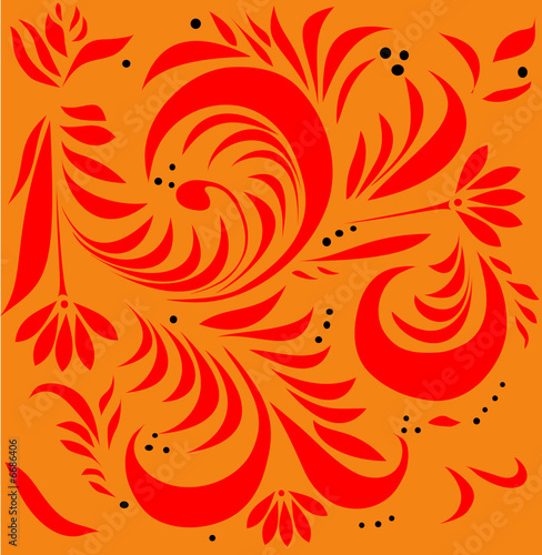 red foliage on gold