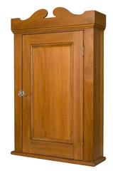 Antique Wooden Cabinet - 3/4 Left View