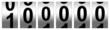 Leinwanddruck Bild - 100,000 Black Odometer