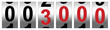 Leinwandbild Motiv 3000 Red Odometer