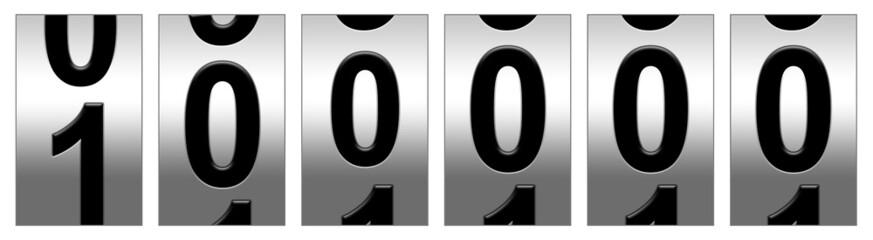 100,000 Black Odometer