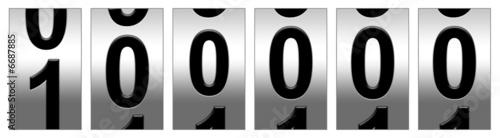 Leinwanddruck Bild 100,000 Black Odometer