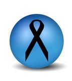 cancer symbol - blue poster