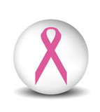cancer symbol - white poster
