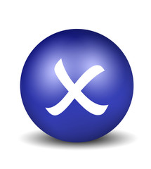 Cross Symbol - blue