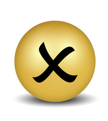 Cross Symbol - gold