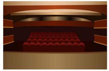 theater scene vector