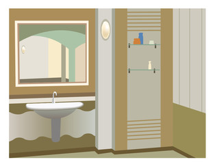 wash stand vector