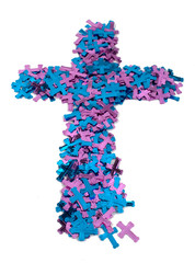 Pink and Blue Cross