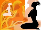 Yoga Female Silhouette