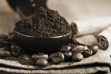 freshly ground coffee