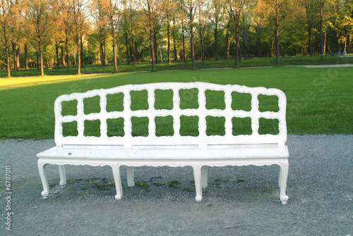 Fancy bench in a park