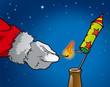 Weihnachtsmann-Rakete