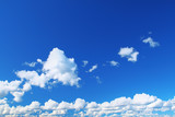 summer sky with cumulus clouds poster