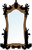 Vector illustration of mirror poster