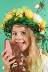 Pâques et Lapin en chocolat