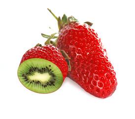 Strawberry which looks like kiwi inside