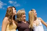 Fototapety Beautiful Family in Profile