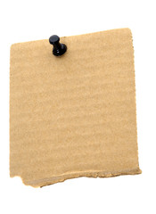 Recycled cardboard note paper
