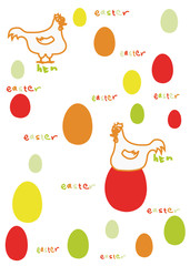 coloreggs and hens