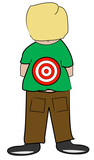 young boy with target on his back - bullying  poster