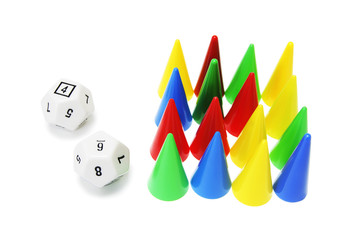 Dice and Game Pegs