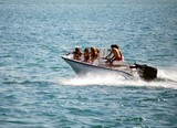 Five Girls One Boy in a Motor Boat poster