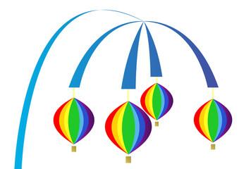 hot air balloons mobile