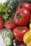 Fresh Vegetables, Fruits and other foodstuffs. Shot in a studio. poster