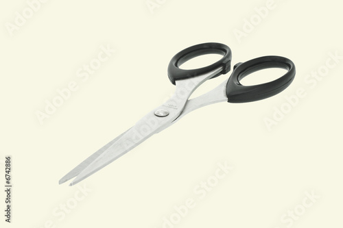 Scissors with black handles