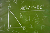 Famous geometry theorem on school blackboard poster