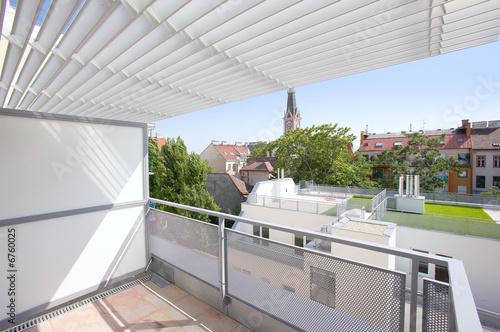 Leinwanddruck Bild Architektur Balkon