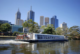 Sight seeing boat on the Yarra river in Melbourne poster