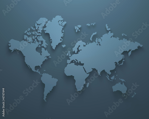 World Map , global view , continents