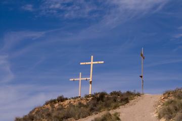 Three Crucifix on Spanish Hilltop