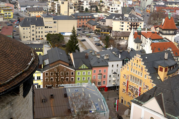 Panorama Of Kufstein From The Top.