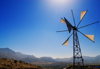 Old broken windmill (Crete, Greece)