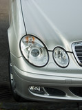 Headlight of the luxury car