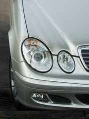 Headlight of the luxury car