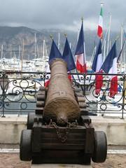 canon et drapeaux français