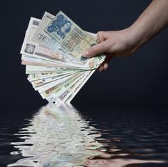 Banconote con riflesso
