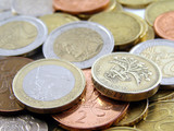 Euros and Pounds - Euro and Pound coins
