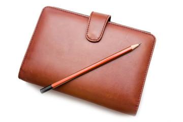 organizer and pencil