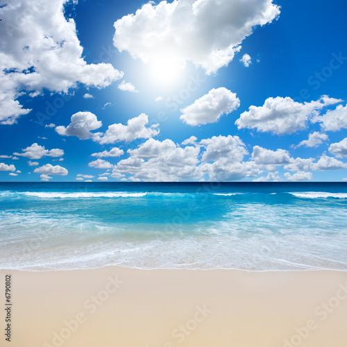 Leinwanddruck Bild Gorgeous Beach Landscape