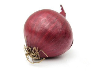 Onion red isolated on white