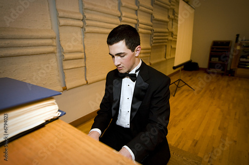 Teenager Playing Piano