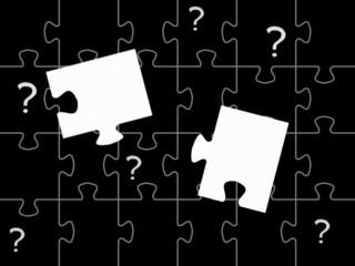 Fragezeichen und Puzzle